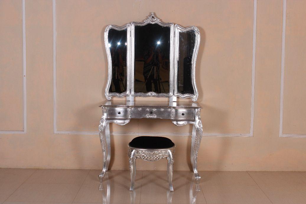Barock schminktisch rochella mit stuhl schminktische spiegel shop repro antik design - Barock schminktisch ...