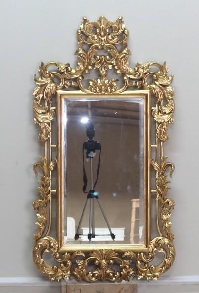 Barock Wandspiegel Spiegel, Repro-Antik-Design, Mahagoni massiv holz, ausgefallen exclusive  gold