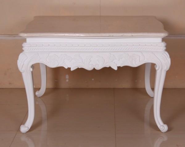 Barock Tisch Couchtisch, Repro-Antik-Design, Mahagoni massiv Holz, mit marmorplatte, ausgefallen exclusive