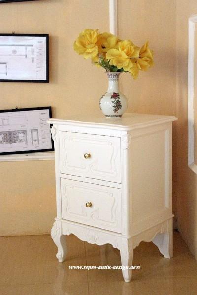 Barock Nachttisch, Repro-Antik-Design, Mahagoni Massiv Holz ausgefallen mit gold exclusive.