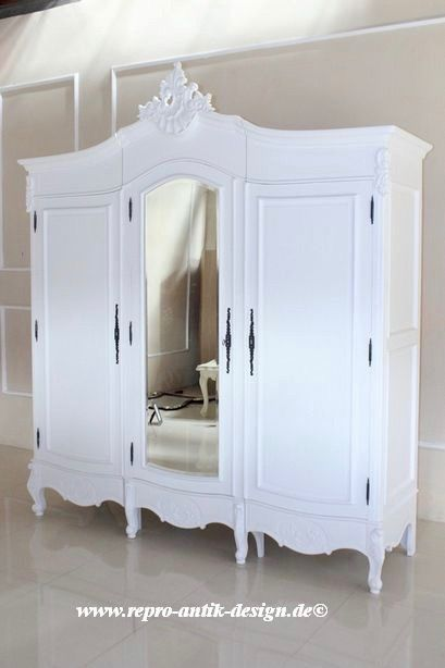kleiderschrank ausgefallen, barock kleiderschrank french amoire mit spiegel 3-türig   schränke, Design ideen