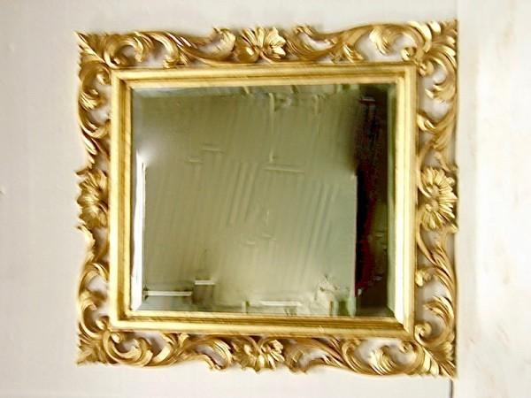 Barock Wandspiegel Spiegel, Repro-Antik-Design, Mahagoni massiv holz, gold ausgefallen exclusive