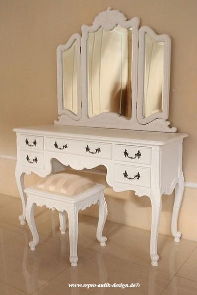barock schminktisch rdm 016 schminktische spiegel shop repro antik. Black Bedroom Furniture Sets. Home Design Ideas