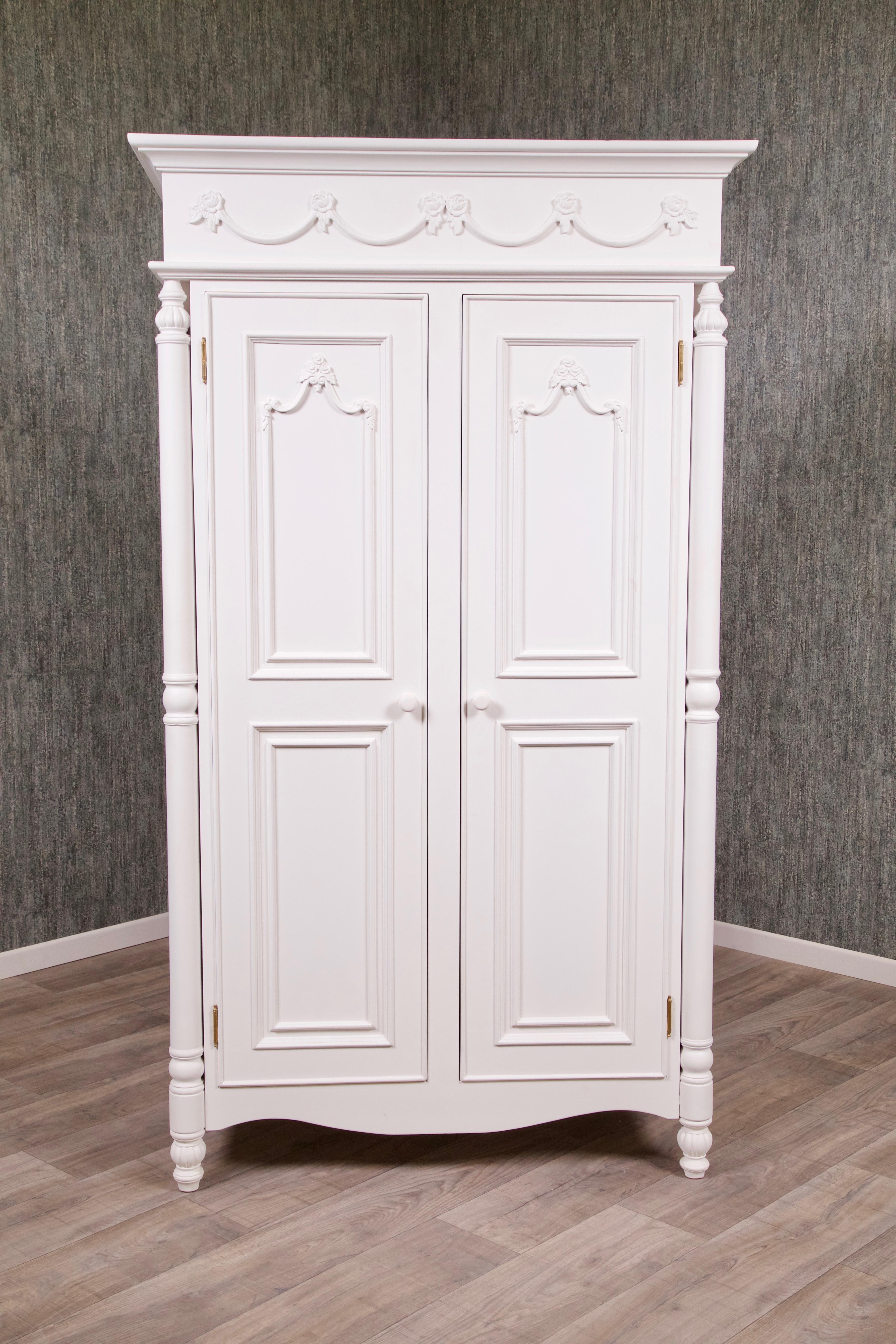 Barock Kleiderschrank Amoire Weiß