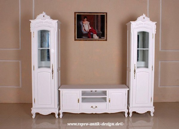 barock tv sideboard french mit zwei hochschr nken kommoden anrichten sideboards shop. Black Bedroom Furniture Sets. Home Design Ideas