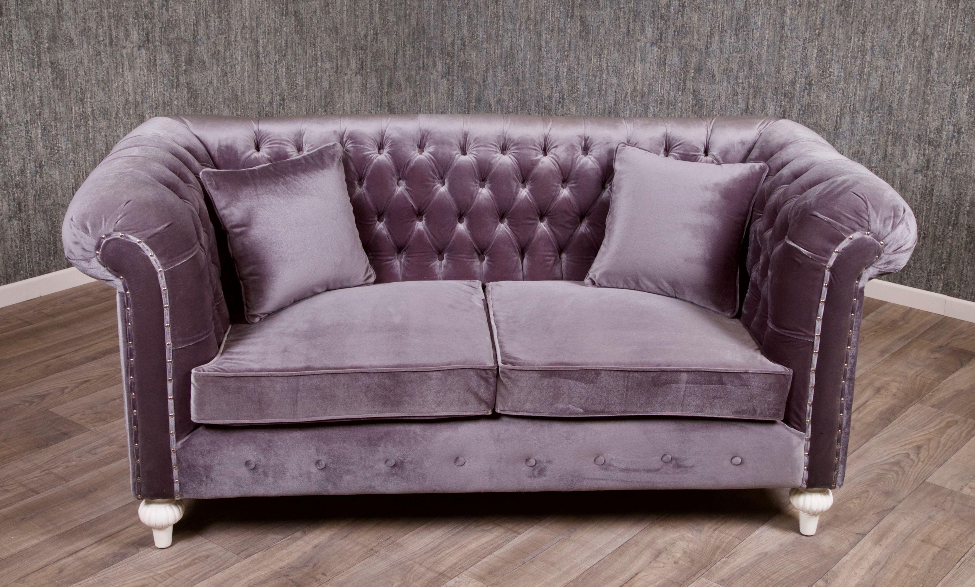 barock chesterfield sofa 2 sitzer empire grau sofas sofas sessel chaiselongue shop. Black Bedroom Furniture Sets. Home Design Ideas
