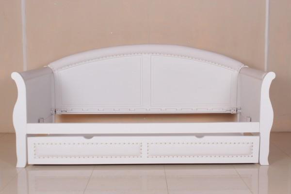 Barock Bett Sofa Schlafcouch, Repro-Antik-Design, Mahagoni massiv holz