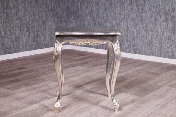 Barock Tisch Beistelltisch, Repro-Antik-Design, Mahagoni massiv Holz, belegt mit Blattsilber, ausgefallen exclusive