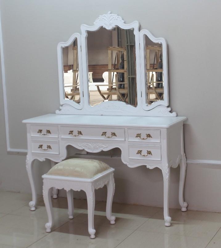 Barock schminktisch rdm 016 mit stuhl in wei schminktische spiegel sale sofort verf gbar - Barock schminktisch ...