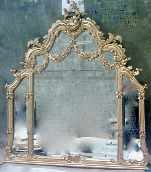 Barock Wandspiegel Spiegel, Repro-Antik-Design, Mahagoni massiv holz, ausgefallen exclusive