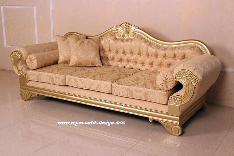 barock sofa 3 sitzer empire sofas sofas sessel chaiselongue shop repro antik design. Black Bedroom Furniture Sets. Home Design Ideas