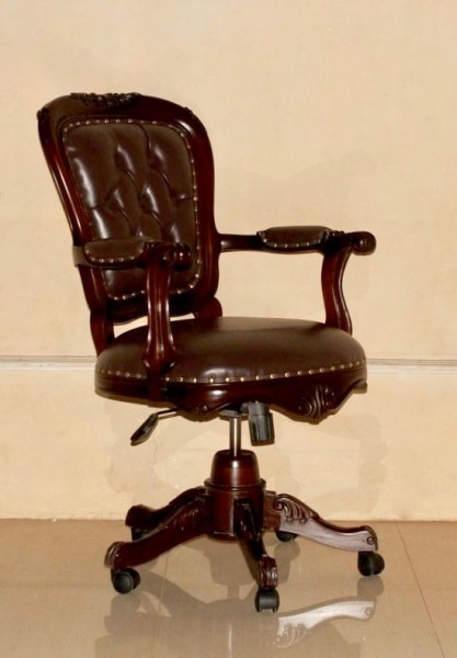 Barock Burostuhl Swivel Gebeizt In Kolonial Buro Stuhle Stuhle