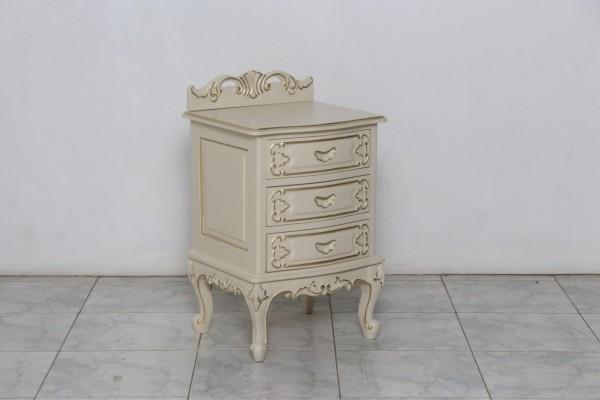 Barock Nachttisch, Repro-Antik-Design, Mahagoni Massiv Holz ausgefallen mit gold exclusive
