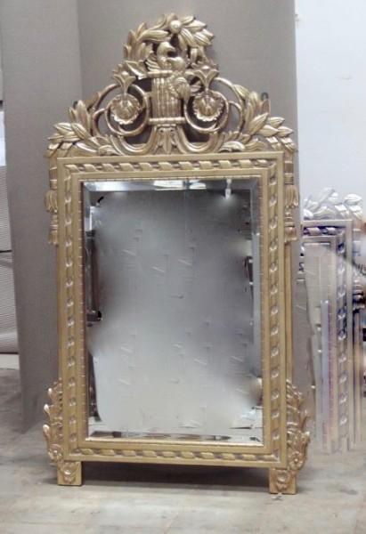 Barock Wandspiegel Spiegel, Repro-Antik-Design,gold , Mahagoni massiv holz, ausgefallen exclusive
