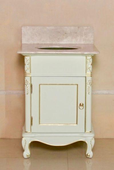 Barock Waschtisch mit Marmorplatte, Repro-Antik-Design Mahagoni massiv Holz mit Gold griffen ausgefallen exclusive