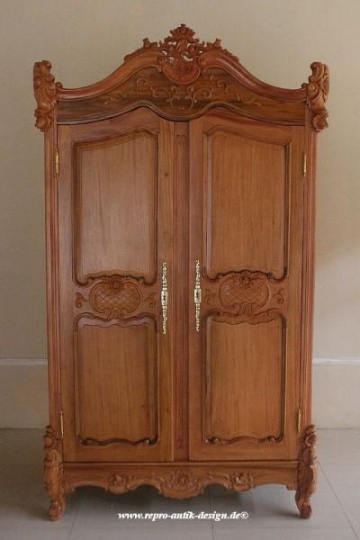 barock kleiderschrank valbonne 2 t rig schr nke regale shop repro antik design. Black Bedroom Furniture Sets. Home Design Ideas