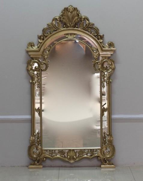 Barock Wandspiegel Spiegel, Repro-Antik-Design, gold , Mahagoni massiv holz, ausgefallen exclusive