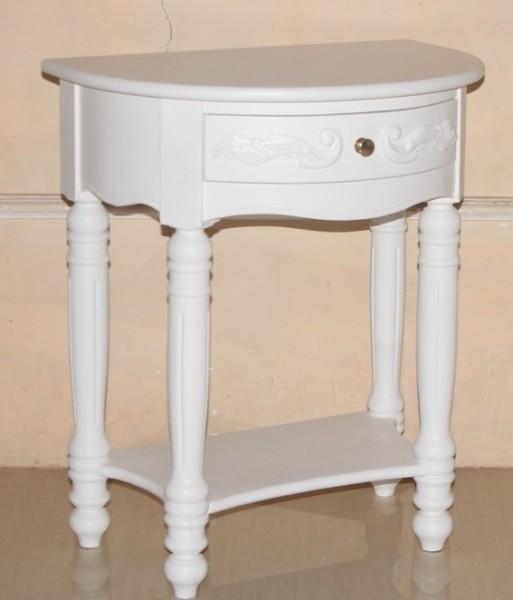 Barock Nachttisch Princess, Repro-Antik-Design, Mahagoni massiv Holz weiß ausgefallen