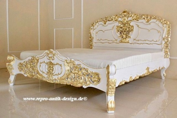 barock bett rokoko betten shop repro antik design. Black Bedroom Furniture Sets. Home Design Ideas