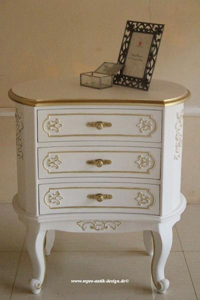 Barock Nachttisch , Repro-Antik-Design, Mahagoni Massiv Holz ausgefallen exclusive