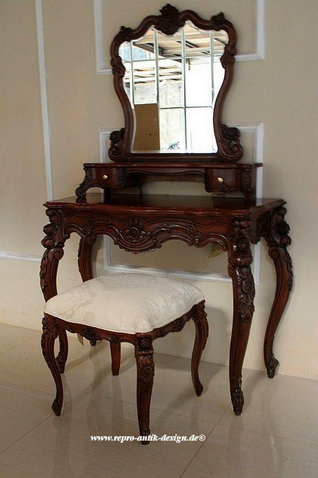 Barock schminktisch valbonne mit stuhl schminktische spiegel shop repro antik design - Barock schminktisch ...