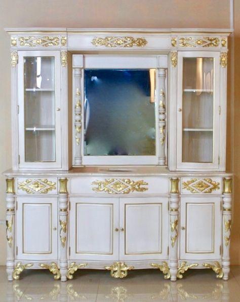 barock waschtisch vdv mit spiegel alt wei mit gold dekor badezimmerm bel shop repro. Black Bedroom Furniture Sets. Home Design Ideas