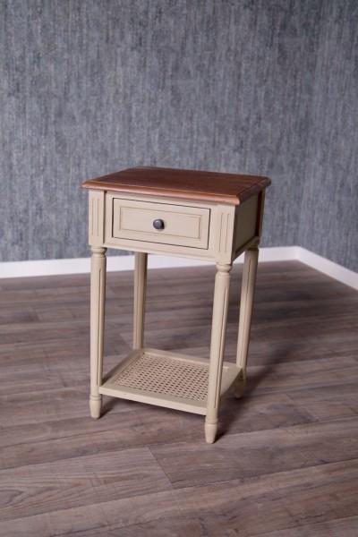 Barock Nachttisch, Repro-Antik-Design, Mahagoni Massiv Holz ausgefallen Rattan exclusive.