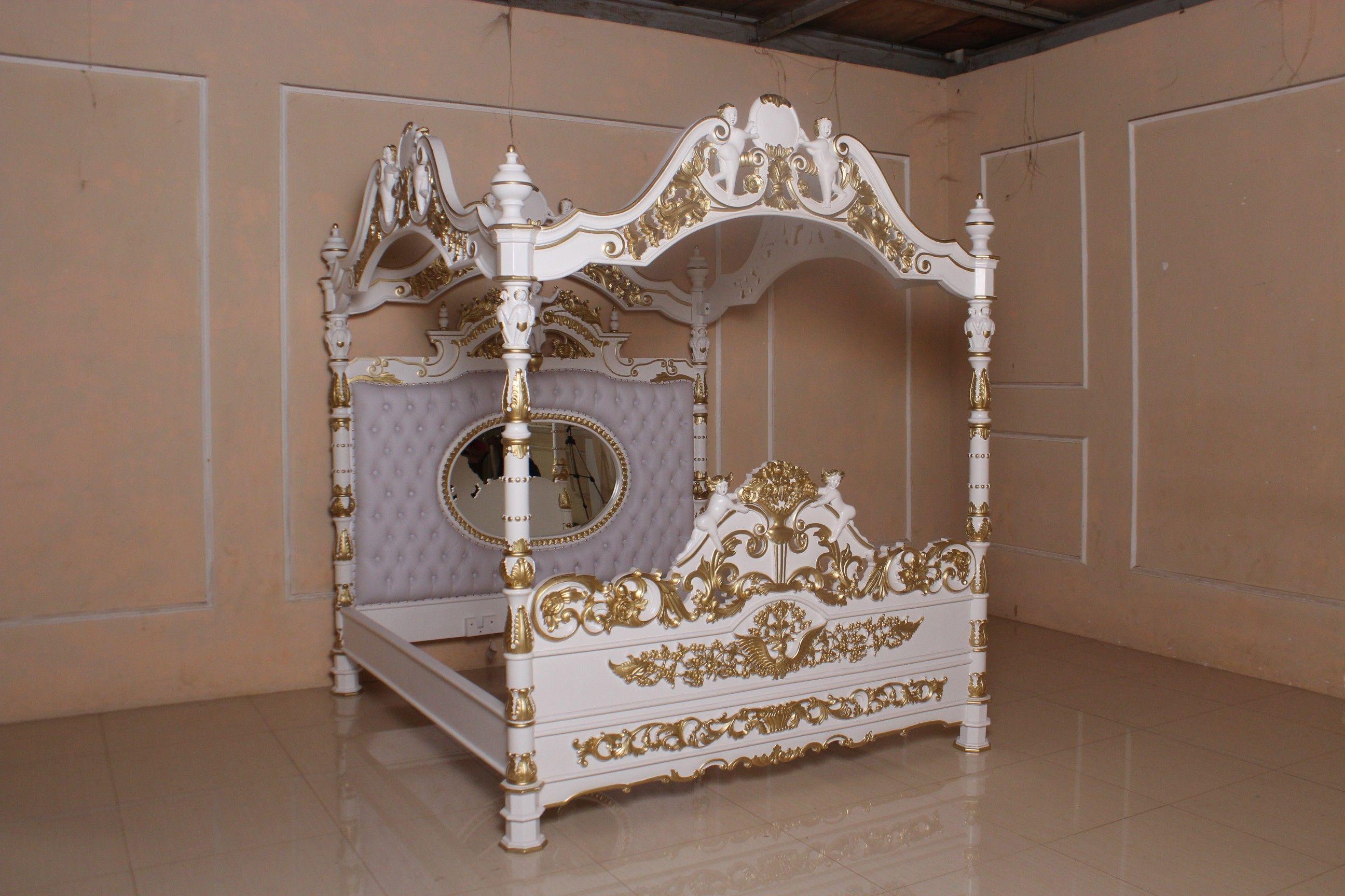 barock bett engelhimmelbett betten onlineshop repro. Black Bedroom Furniture Sets. Home Design Ideas