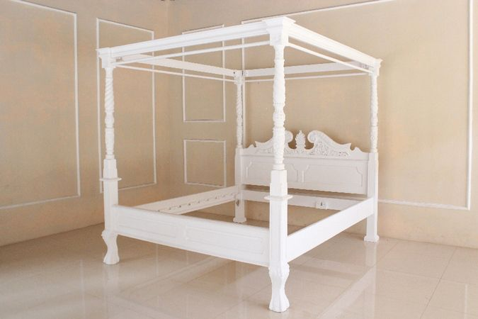 barock bett himmelbett canopy betten shop repro antik design. Black Bedroom Furniture Sets. Home Design Ideas