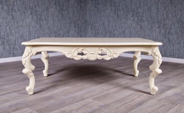 Barock Tisch Couchtisch, Repro-Antik-Design Mahagoni massiv holz Elfenbein,aufwendige Holzschnitzerei