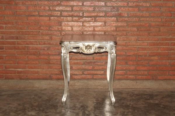 Barock Tisch Beistelltisch, Repro-Antik-Design, Mahagoni massiv Holz aufwendige Holzschnitzerei