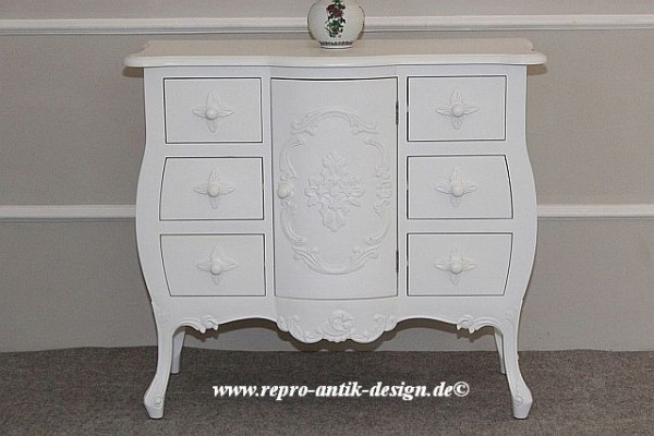 Barock Kommode, Repro-Antik-Design, Mahagoni Massiv Holz ausgefallen exclusive.