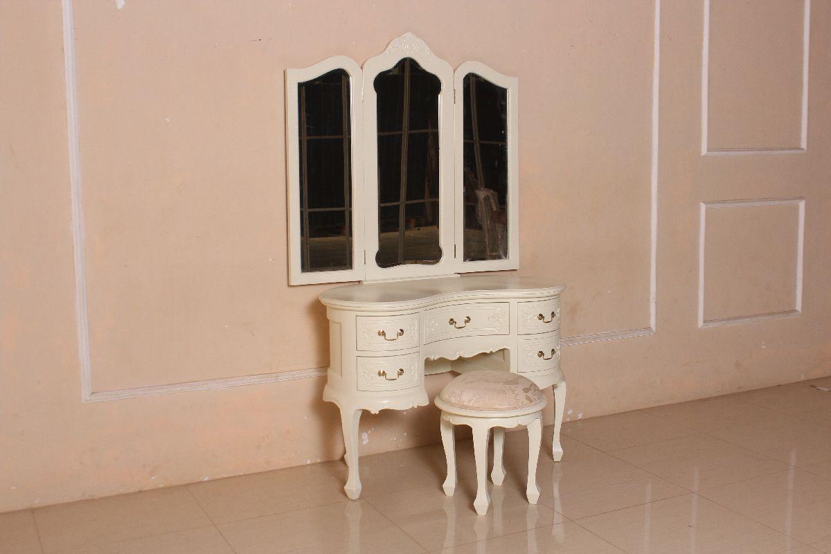 Barock schminktisch triple mit stuhl schminktische spiegel shop repro antik design - Barock schminktisch ...