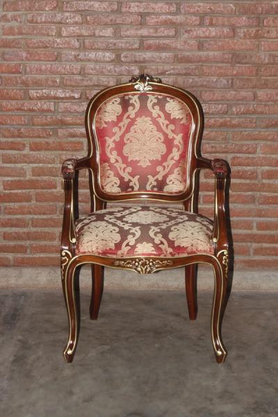 Barock Stuhl Louis XV mit Armlehnen