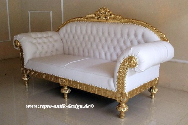 barock sofa 3 sitzer queenera rz gold wei sofas sofas sessel chaiselongue shop repro. Black Bedroom Furniture Sets. Home Design Ideas
