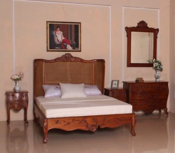 Barock Schlafzimmer Garnitur Repro Antik Design Mahagoni Massiv Holz