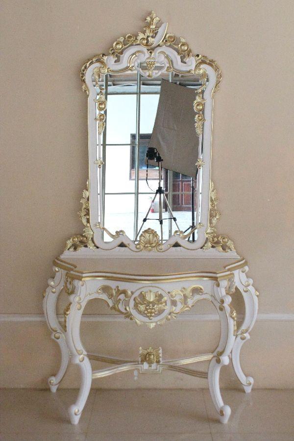 Barock schminktisch grape carved schminktische spiegel shop repro antik design - Barock schminktisch ...