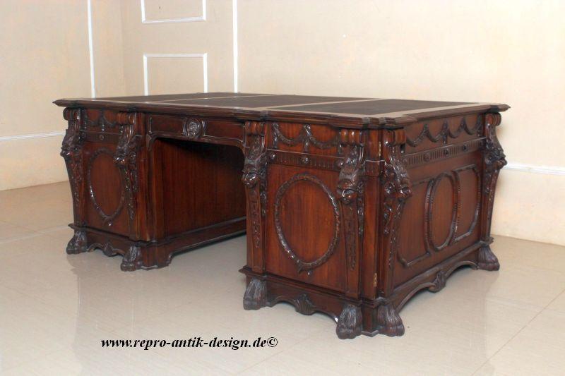 barock schreibtisch lion schreibtische sekret re. Black Bedroom Furniture Sets. Home Design Ideas