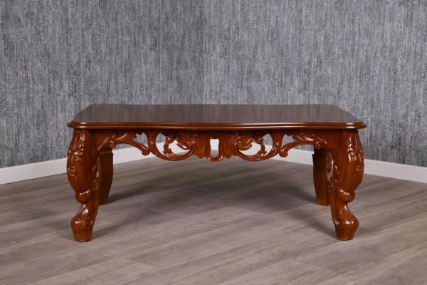 Barock Tisch, Couchtisch, Coffeetable , Repro-Antik-Design Mahagoni massiv holz ,aufwendige Holzschnitzerei