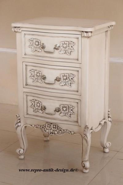 Barock Nachttisch, Repro-Antik-DesignBarock Nachttisch, Repro-Antik-Design, Mahagoni Massiv Holz ausgefallen mit silber exclusive.