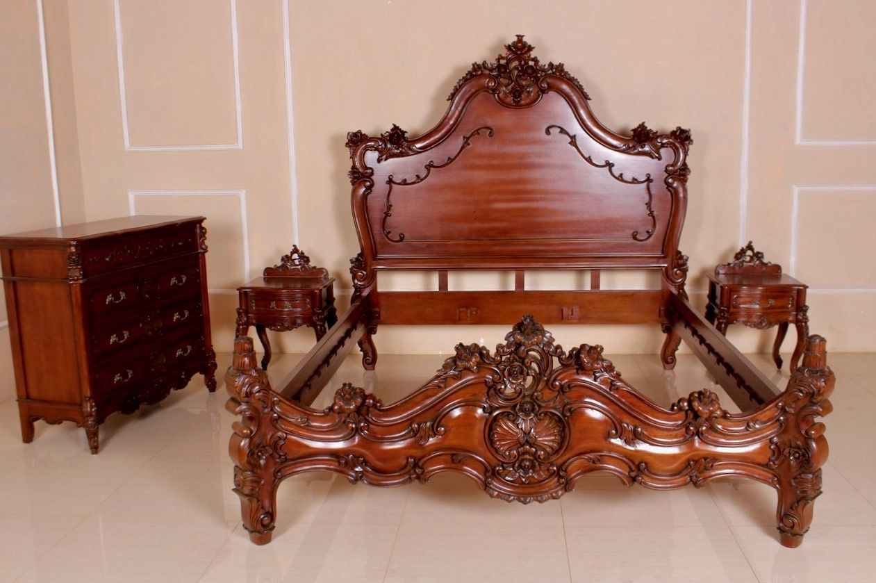 barock bett valbonne hoch betten shop repro antik. Black Bedroom Furniture Sets. Home Design Ideas
