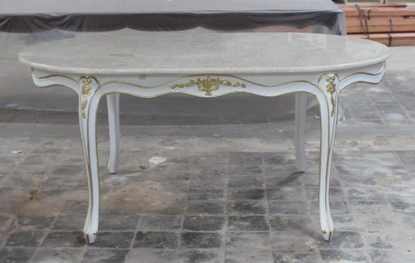 Barock esszimmer tisch louis xv mit marmorplatte tische for Esszimmertisch mit marmorplatte