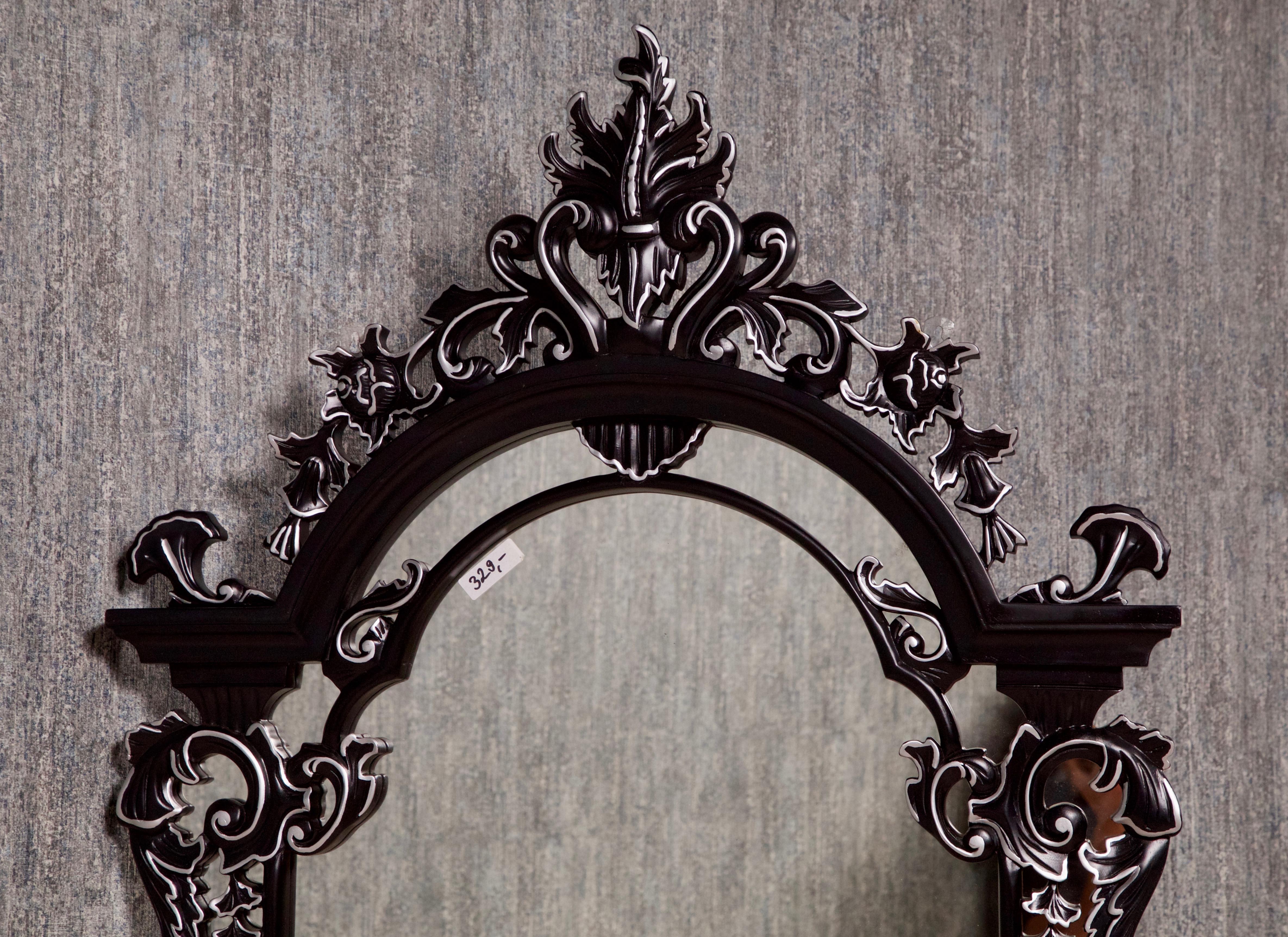 Barock wandspiegel schwarz silber schminktische spiegel shop repro antik design - Barock wandspiegel silber ...