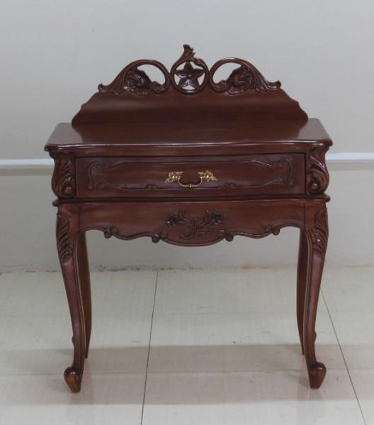Barock Nachttisch Valbonne, Repro-Antik-Design, Mahagoni Massiv Holz ausgefallen mit Goldgriff  exclusive