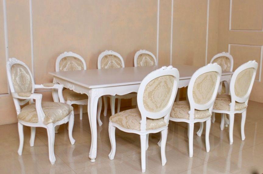 barock esszimmer garnitur lilika antik wei 1 tisch mit 8 st hlen esszimmergarnituren. Black Bedroom Furniture Sets. Home Design Ideas