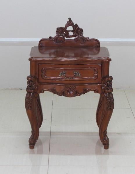 Barock Nachttisch Valbonne, Repro-Antik-Design, Mahagoni Massiv Holz ausgefallen  exclusive
