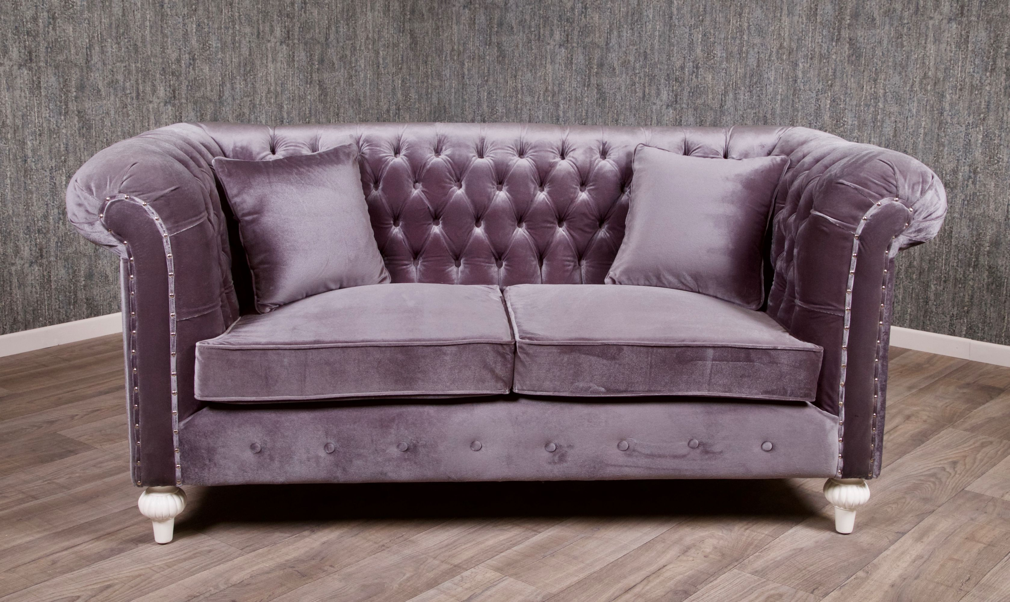 barock chesterfield sofa 2 sitzer empire grau sofas sofas sessel chaiselongue shop. Black Bedroom Furniture Sets. Home Design Ideas