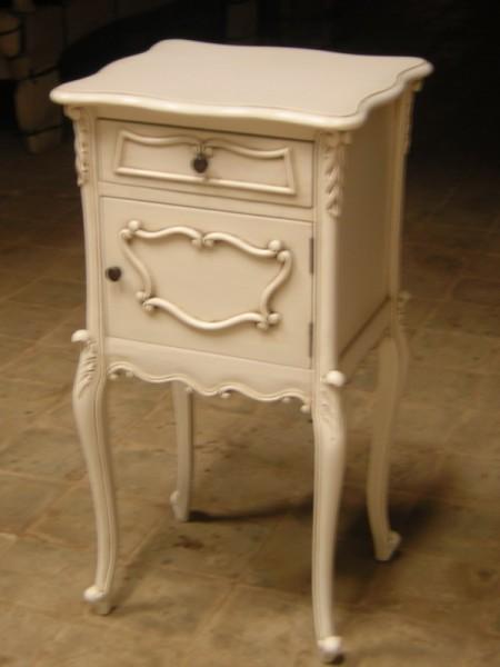 Barock Nachttisch, Repro-Antik-Design, Mahagoni Massiv Holz ausgefallen exclusive.