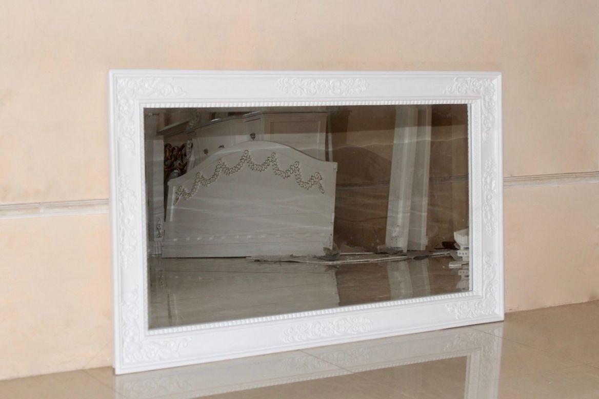 barock waschtisch cleopatra mit spiegel antik wei und hellgrauer marmorplatte. Black Bedroom Furniture Sets. Home Design Ideas