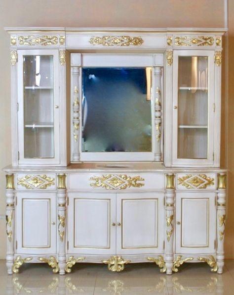 Barock Waschtisch mit Marmorplatte und Spiegel, Repro-Antik-Design Mahagoni massiv Holz Gold Dekor mit Goldgriffen ausgefallen exclusive